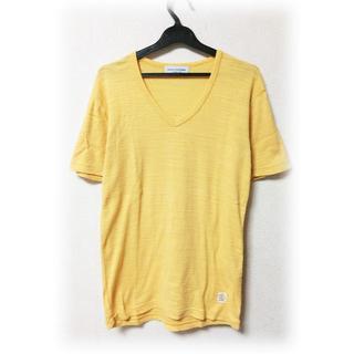 ナノユニバース(nano・universe)のナノユニバース 無地 Vネック カットソー 半袖 シンプル 美品 送料無料 L (Tシャツ/カットソー(半袖/袖なし))