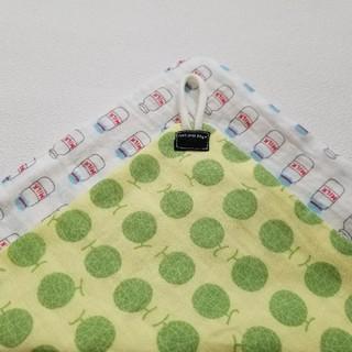 ループタオル コロコロメロン × ミルク ハンドメイド(外出用品)