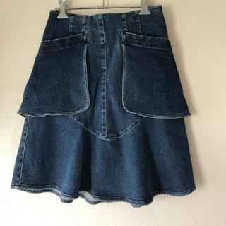 シャネル(CHANEL)のCHANEL  シャネル  デニムスカート   フレアスカート(ひざ丈スカート)