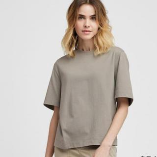 UNIQLO - UNIQLO クロップドクルーネックTシャツ