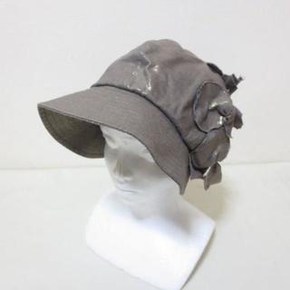 アンテプリマ(ANTEPRIMA)のアンテプリマ ブラウン ゴールド 帽子 ハット M A871(キャスケット)