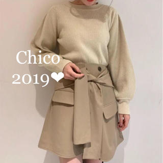 who's who Chico - 新品タグ付き❤︎ウエストリボン テーラースカート