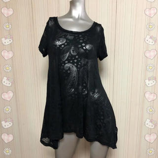 SLY - ペイズリー柄 透け Tシャツ