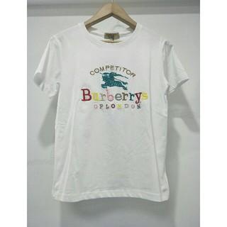 バーバリー(BURBERRY)のBURBERRY バーバリー tシャツ ホワイト 刺繍 M レディース (Tシャツ(半袖/袖なし))