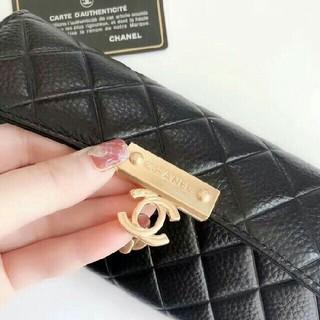 CHANEL - CHANEL ブラック 長財布 レディース