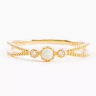 アガット(agete)のete k10 ダイヤ オパール YG リング 9号 ✨ 指輪(リング(指輪))