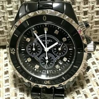 シャネル(CHANEL)のCHANEL  腕時計 シャネル メンズ 時計 ブラック(腕時計(アナログ))