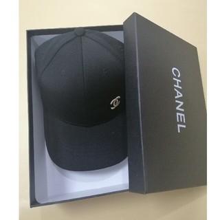 CHANEL - キャップchanel シャネル ブラック 帽子