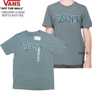 ヴァンズ(VANS)の日本未発売 US企画 バンズ チェックVANSロゴ T 杢灰 140-150m(Tシャツ(半袖/袖なし))