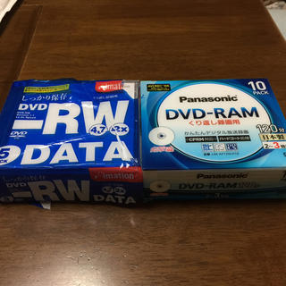 パナソニック(Panasonic)のDVDRAM10枚 DVDRW DATA5枚 新品未使用(その他)