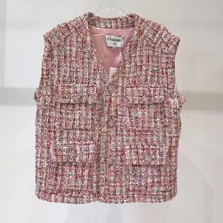 シャネル(CHANEL)の正規品 シャネル ツイード ジャケット 美品(シャツ/ブラウス(半袖/袖なし))