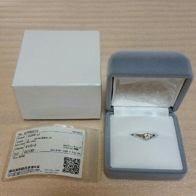 プラチナダイヤリング VVS2 GOOD J Pt900 レディースのアクセサリー(リング(指輪))の商品写真