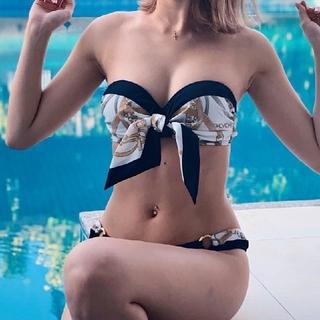 rienda - rienda リエンダ Wrap Scarf バンドゥーカップビキニ 水着