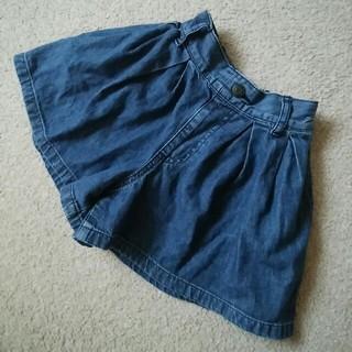 GU - 美品 GU デニムキュロットスカート デニムショートパンツ 110サイズ