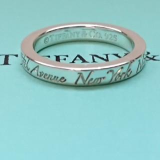 ティファニー(Tiffany & Co.)の正規品 ティファニー ノーツ ニューヨーク  ナロー リング 6号(リング(指輪))