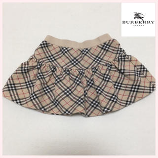 バーバリー(BURBERRY)のバーバリー 総柄 チェック スカート 80cm 女の子 日本製(スカート)
