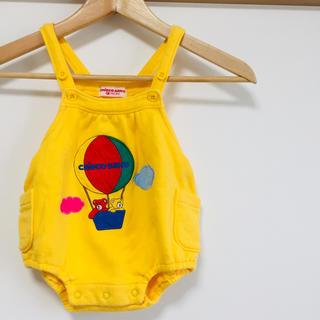 mikihouse - ミキハウス チエコサク 希少 クマ 気球 黄色 カバーオール ダルマオール85