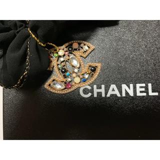 シャネル(CHANEL)のラスト!ノベルティーグッズ♡ロゴチャーム♡ビジューロゴ♡シュシュプレゼント♡(ノベルティグッズ)