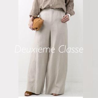 DEUXIEME CLASSE - 極美品⭐️定価22680円/ドゥーズィエムクラス/リネンツイルワイドパンツ 38