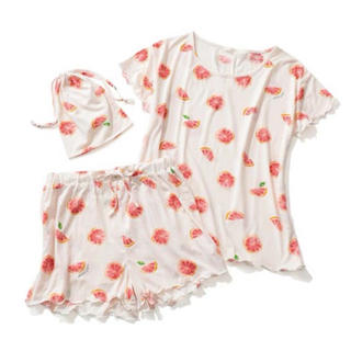 gelato pique - 【ONLINE 限定】ピンクグレープフルーツTシャツ&ショートパンツ&巾着SET