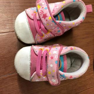 ニシマツヤ(西松屋)の女の子 11.5 ピンク スニーカー(スニーカー)