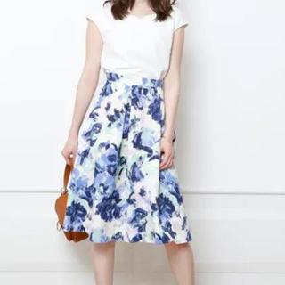 ジャスグリッティー  カラフルペイントフラワー スカート  水彩柄 花