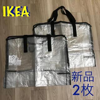 新品 IKEA バッグ 透明 2枚セット