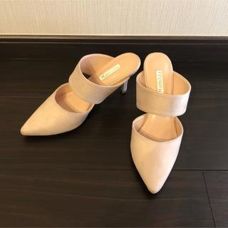 新品 パンプス サンダル ベージュ(ハイヒール/パンプス)