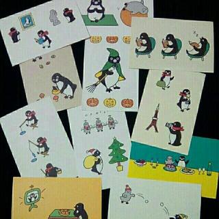 JR - Suicaペンギン ポストカード(秋冬)11枚セット さかざきちはる