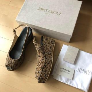 ジミーチュウ(JIMMY CHOO)の極美品⭐️JIMMY CHOO/ジミーチュウ ウェッジ ストラップサンダル 38(サンダル)