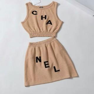 シャネル(CHANEL)のシャネル サマーセーター ミニスカート 正規品 m(ニット/セーター)