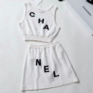 シャネル(CHANEL)の超美品CHANEL セット ニート 夏物 レディース 正規品 (ひざ丈スカート)