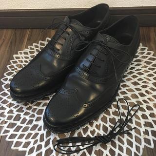 ルイヴィトン(LOUIS VUITTON)の美品 ルイヴィトン メンズ ビジネスシューズ 7 ブラック(ドレス/ビジネス)