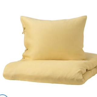イケア(IKEA)の麻100  掛け布団カバー枕カバーセット定価9990円(シーツ/カバー)