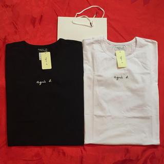 アニエスベー(agnes b.)のagnesb. 小文字サイズL黒白2点セットアニエス・ベー半袖Tシャツ  (Tシャツ(半袖/袖なし))