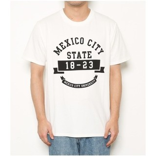 ロデオクラウンズワイドボウル(RODEO CROWNS WIDE BOWL)のRCWB メンズ mexico カレッジTシャツ(Tシャツ/カットソー(半袖/袖なし))