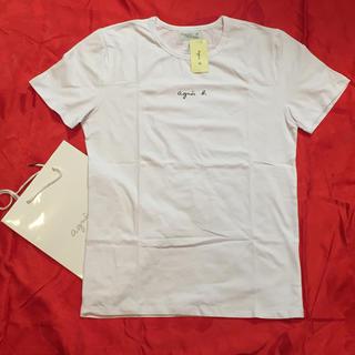 アニエスベー(agnes b.)のagnesb. 小文字サイズM白アニエス・ベー半袖Tシャツ(Tシャツ(半袖/袖なし))
