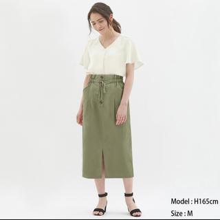 GU - 【新品】GU ひざ丈スカート