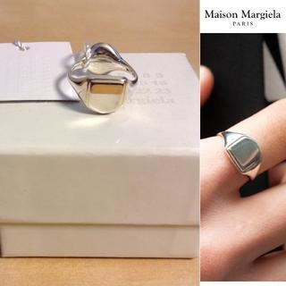 マルタンマルジェラ(Maison Martin Margiela)の新品■M■マルジェラ 19ss■リバーシブル シルバー リング■指輪■6249 (リング(指輪))