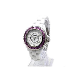 シャネル(CHANEL)のシャネル H2010 J12 33mm 12Pダイヤ/ピンクサファイヤ(腕時計)