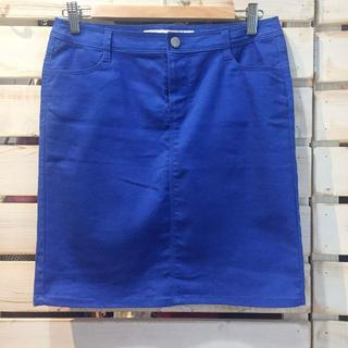 エイチアンドエム(H&M)のカラーデニムスカート タイトスカート 韓国/mixxo ミッソ(ひざ丈スカート)