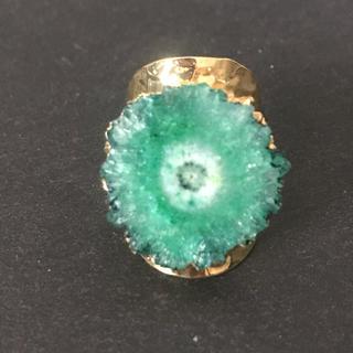 マライカ(MALAIKA)の天然石 リング  指輪 グリーン B(リング(指輪))