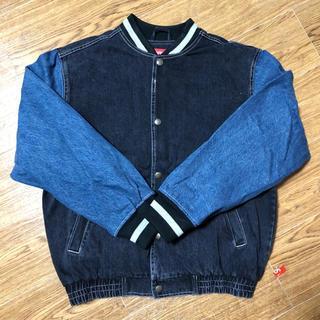 シュプリーム(Supreme)のsupreme denim varsity jacket S デニムジャケット(Gジャン/デニムジャケット)