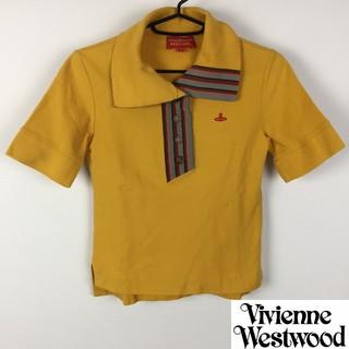 ヴィヴィアンウエストウッド(Vivienne Westwood)の美品 ヴィヴィアンウエストウッドレッドレーベル 半袖ポロシャツ イエロー系(ポロシャツ)