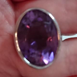巨大アメジストのリング 指輪 シルバー(リング(指輪))