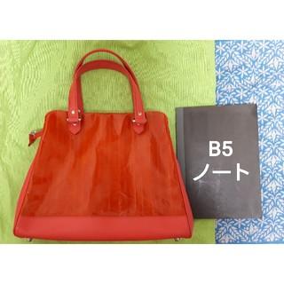 アッシュペーフランス(H.P.FRANCE)のジャックルコー 赤 ハンドバッグ うなぎ革 保存袋つき(ハンドバッグ)