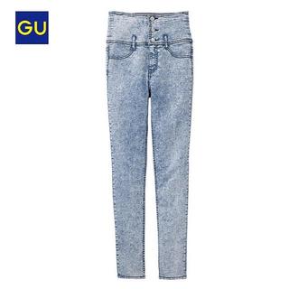GU - 新品♡GU ハイウエストスキニーデニムパンツ Lサイズ