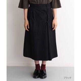 merlot - メルロー  ラップ風チャイナボタン スカート