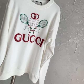 グッチ(Gucci)のGUCCI☆テニス柄 スウェットシャツ(パーカー)
