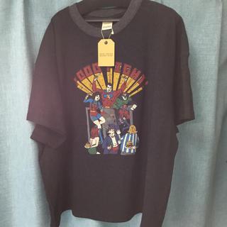 ダブルネーム(DOUBLE NAME)の明日まで 新品タグ付き DOUBLE NAME ワッフルTシャツ スミクロ(Tシャツ(半袖/袖なし))